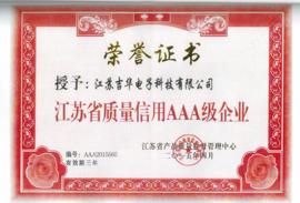 江苏省质量信用AAA级企业